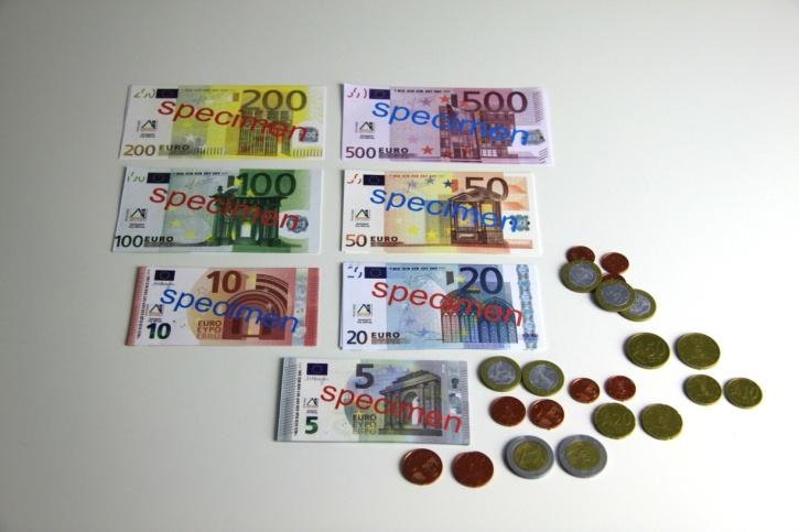 Euro - Spielgeldsatz