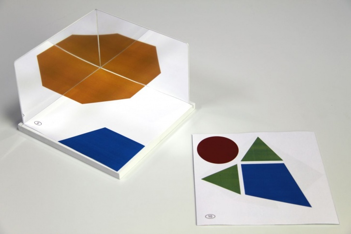 Satz aus 2 Geometriepiegeln mit Ständer