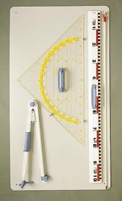 Gerätetafel II, 110 x 63cm, mit magnethaftenden Zeichengeräten