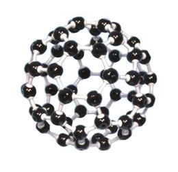 Modell Buckminsterfulleren C60