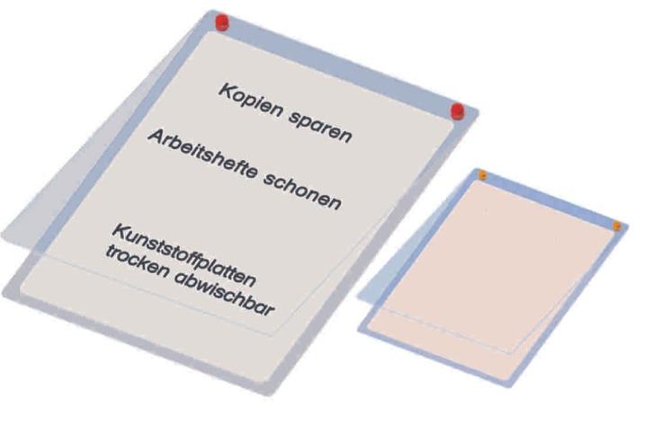 Überhangtafel für DIN A4 Formate