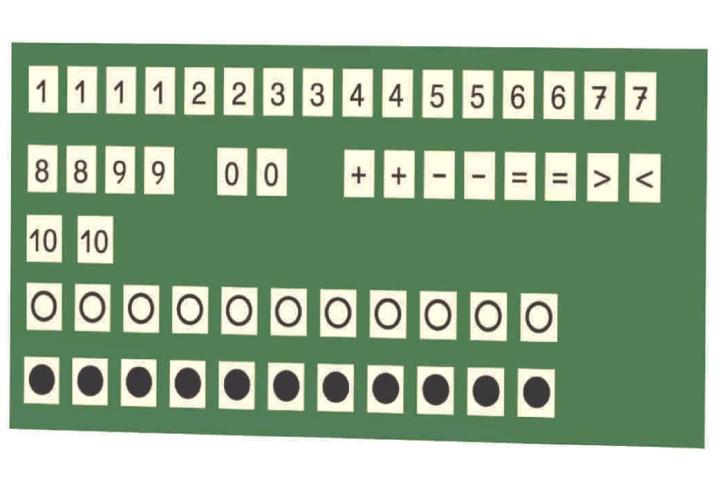 Lehrerkarten Mathematik, aus Kunststoff, magnethaftend