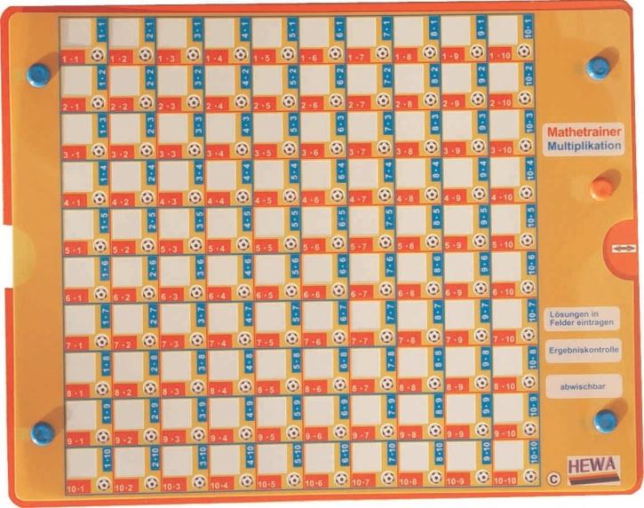 Multiplikationstrainer im Zahlenraum bis 100
