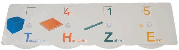 Demonstrationsgerät Stellenwerttafel für die Tafel