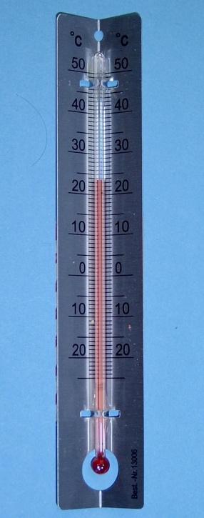 Schülerthermometer mit Metallskala, -25 bis +50°C