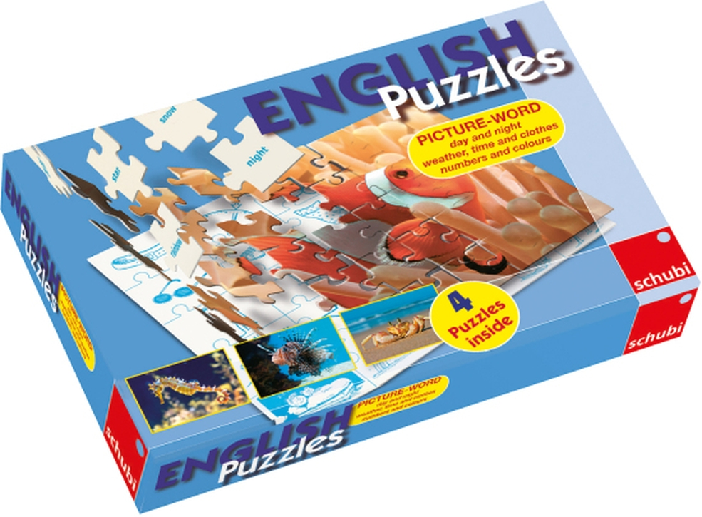 English Puzzles: Tag, Nacht, Wetter ...
