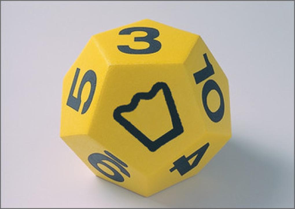 Riesen-Schulwürfel, Farbe gelb