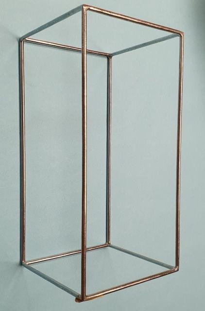 Kantenmodell Quader (Chrom) ohne Diagonalen