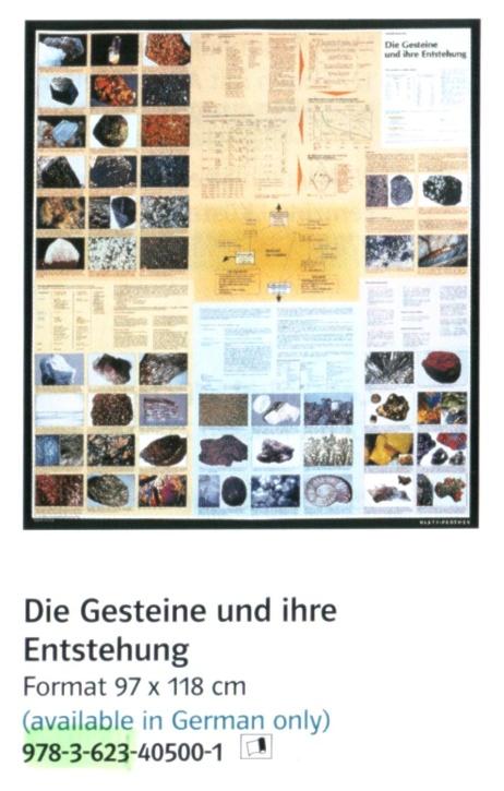 """Geographie auf einen Blick, """"Die Gesteine und ihre Entstehung"""" Poster"""