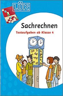 Lük-Heft Sachrechnen  (4. Schuljahr)