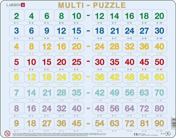 Puzzle - Multiplikationspuzzle, das kleine Einmaleins