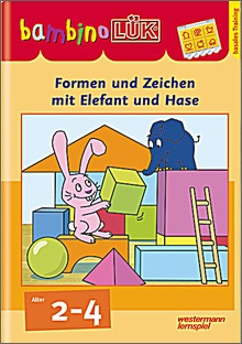 bambinoLük-Heft Formen und Zeichen mit Elefant und Hase