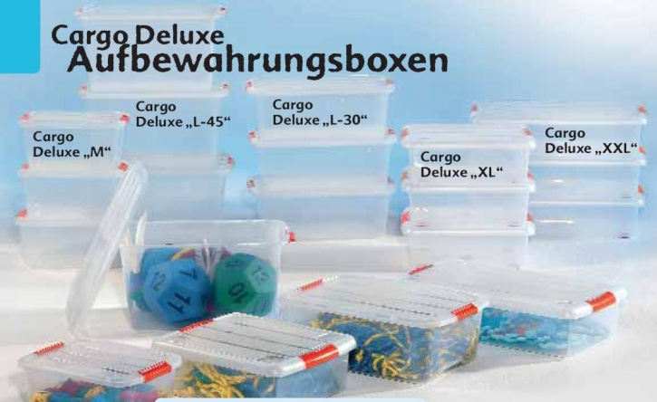 Aufbewahrungsbox, tranparent, Cargo Deluxe L-45, ca. 60 Liter