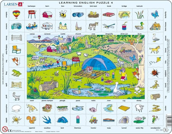 Puzzle - Learning English Puzzle 4, Format 36,5x28,5 cm, Teile 70
