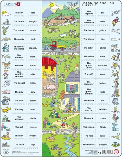 Puzzle - Learning English Puzzle 7, Format 36,5x28,5 cm, Teile 64