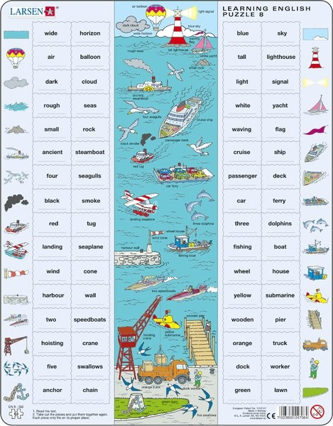 Puzzle - Learning English Puzzle 8, Format 36,5x28,5 cm, Teile 65