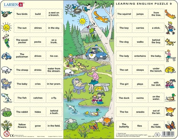 Puzzle - Learning English Puzzle 9, Format 36,5x28,5 cm, Teile