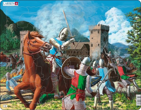 Puzzle - Ritterschlacht, Format 36,5x28,5 cm, Teile 54