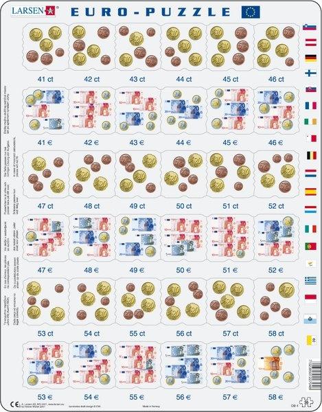 Puzzle - Euro-Rechenspiel, Format 36,5x28,5 cm, Teile 36