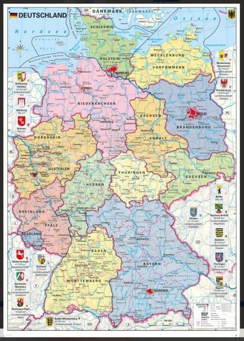 Deutschland, politisch, magnetisches XXL-Puzzle