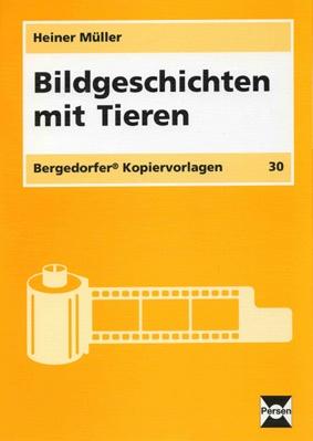 Bildgeschichten mit Tieren von Heiner Müller, 54 Blätter
