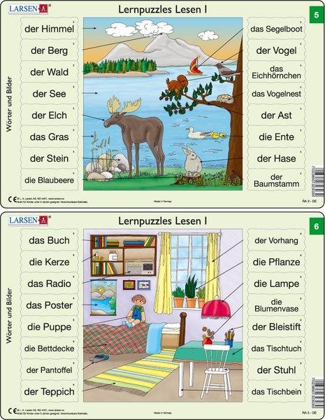 Puzzle - Lernpuzzles Lesen I (5 und 6) Format je Puzzle 28,5x18,