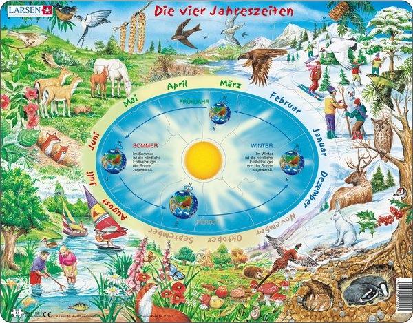 Puzzle - Die vier Jahreszeiten,  Format 36,5x28,5 cm, Teile 44
