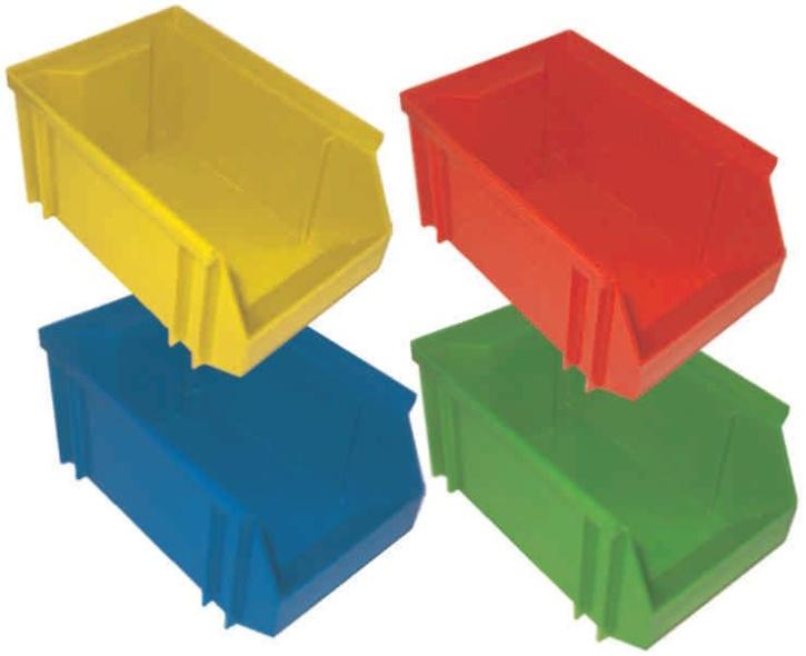Stapelbox, grün, klein, 14x8x6 cm