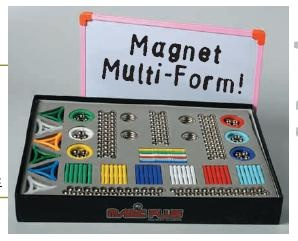 Magnet Multi-Form 420, Box mit Magnettafel, 420 Teile