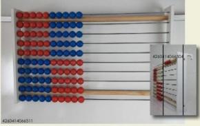 100er Lehrer-Rechenrahmen rot/blau je 5 in jeder Reihe