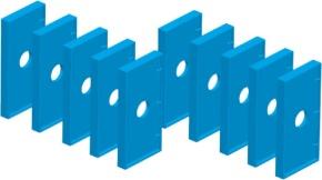 Dominosteine, 10 Blanko, zum Selbstbestücken