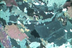 Granit, Gesteinsdünnschliff Dauerpräparat