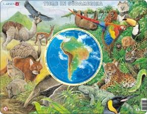 Puzzle - Tiere in Südamerika, Format 36,5x28,5 cm, Teile 90
