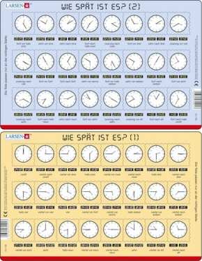 Puzzle - Wie spät ist es?, Format 28,5x18,3 cm, Teile 2x24