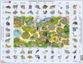 Puzzle - Learning English Puzzle 5, Format 36,5x28,5 cm, Teile 7