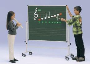 Fahrbare Musiknotentafel mit 5cm Orff-Lineatur