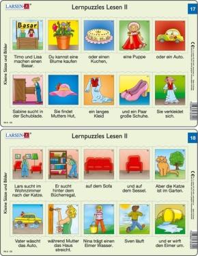 Puzzle - Lernpuzzles Lesen II (17und 18) Format je Puzzle 28,5x1